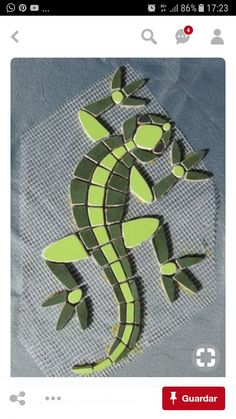 Bildergebnis für reptil on stone mosaic Stained Glass Designs, Stained Glass Projects, Mosaic Designs, Stained Glass Patterns, Mosaic Patterns, Mosaic Garden Art, Mosaic Tile Art, Mosaic Artwork, Mosaic Glass
