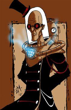 Steampunk Mr. Freeze by ~OrochiGhOsT