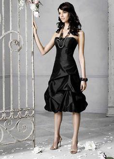 black bridesmaids dresses for wedding