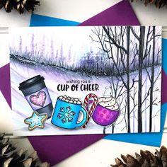 Sunny Studio Stamps: Mug Hugs Customer Card by Bobbi Lemanski Christmas Cards 2018, Christmas Themes, Holiday Cards, Christmas Holidays, Friends Valentines Day, Sunnies Studios, Vintage Jars, Shaker Cards, Heart Cards