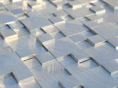 Brushed aluminium tiles