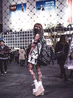 Harajuku style (I would only wear the mask)