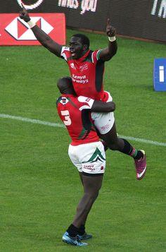 Kenya's Willy Ambaka delights in scoring against New Zealand
