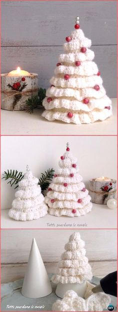 Crochet Ruffle Around Christmas Tree Free Pattern - Crochet Christmas Tree Free Patterns Crochet Christmas Tree Free Patterns for Holiday Decoration and Gifts to Family and Friends, crocodile stitch Christmas tree, Granny Square, Circle Applique Crochet Christmas Decorations, Christmas Tree Pattern, Crochet Christmas Ornaments, Christmas Tree Crafts, Crochet Decoration, Noel Christmas, Free Christmas Crochet Patterns, Simple Christmas, Crochet Ideas