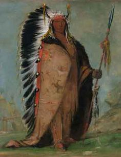 George Catlin, Ee-áh-sá-pa, Black Rock, a Two Kettle Chief, 1832, oil on canvas, Smithsonian American Art Museum, Gift of Mrs. Joseph Harrison, Jr.