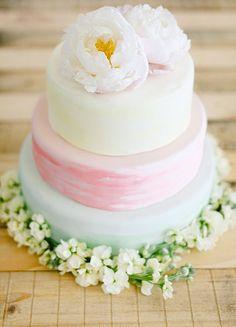 Watercolour wedding cakes | Fly Away Bride