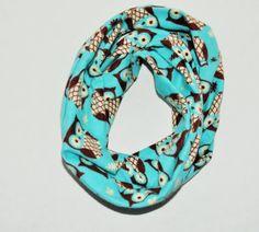 Baby/Toddler infinity scarf owl scarf soft baby owl scarf by RYLOwear