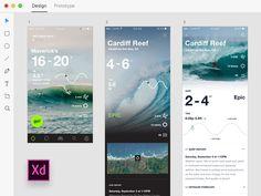 Adobe Xd — Onshore Surf Stats by Dann Petty