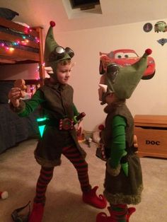 BBPcreations. How to sew Wayne and Lanny elf costumes from Prep and Landing.