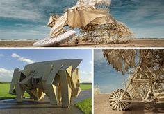 Kinetic Wind Powered Sculptural Creatures