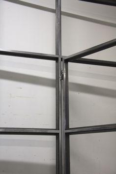 Stalen deuren en kozijnen | Democo.nl Steel Frame Doors, Steel Doors And Windows, Casement Windows, Glass Wall Design, Window Design, Door Design, Loft Door, Small Space Interior Design, Loft Interiors