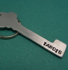 Doctor Who Inspired - TARDIS - A Hand Stamped Aluminum Keychain. $10.95, via Etsy.