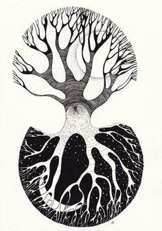 yin yang, great tattoo idea. neat tree inspired.. hm...