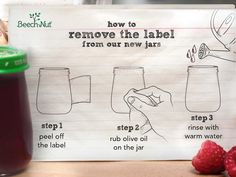 Moms, you've been asking how to remove the labels from our new jars--  Here's our secret: olive oil!