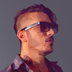 Low-Poly Self Portrait Tutorial by Breno Bitencourt, via Behance