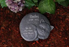 How to memorialize the passing of a pet? This memorial stone is a perfect way. Place it in your garden where youll be reminded of your dearly departed