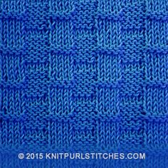 Broken Rib stitch 's easy and creates a beautiful fabric