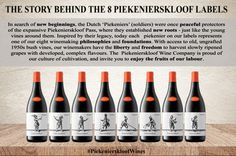 The story behind the 8 labels of the Piekenierskloof wines.