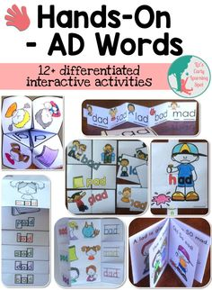 Fun word family projects that little ones can make for themselves. Designed to be used over and over to increase the learning in each activity. $