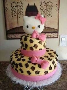 Leopard kitty cake. Love it