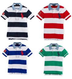 NWT Ralph Lauren Boys Striped Big Pony Cotton Rugby USA Flag Polo Shirt #RalphLauren #Everyday