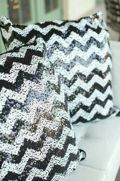 Pillows with sequins
