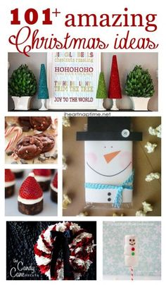 101+ amazing #Christmas ideas on iheartnaptime.com .... as must see lists! So many great crafts and recipe ideas.