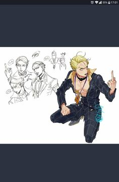 Jojo's Bizarre Adventures ☆ ジョジョの奇妙な冒険 JoJo no Kimyou na Bouken Golden Wind: La Squadra Prosciutto Jojo Bizzare Adventure, Werewolves, Prosciutto, Jojo Bizarre, Fandom, Fan Art, Manga, Drawings, Anime