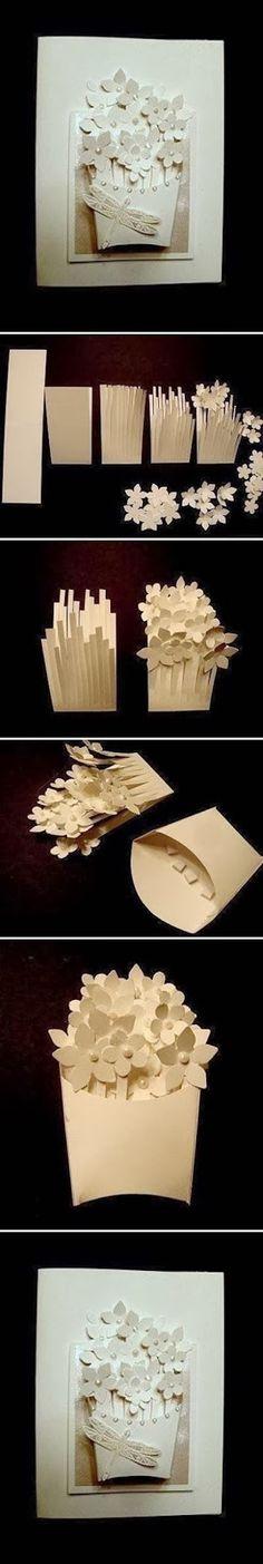 DIY Basket of Flower Card
