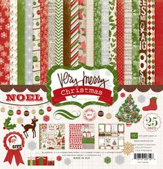 I want this - A Very Merry Christmas Collection Kit - Echo Park  12 x 12