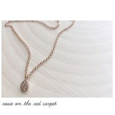 Tiny Simply Dainty Elegant Rose Gold Pendant Anniversary Gifts Gifts for Her Bridal Gifts Wedding Gifts Rosie on the Red Carpet