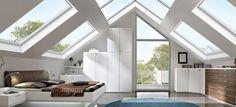 Remodeling your attic into a fully usable extra bedroom is a great idea if you love your home but are in desperate need of more space. With sloping walls, chunky beams and skylights, it pretty easy… - Attic Renovation, Attic Remodel, Attic Spaces, Attic Rooms, Attic Bathroom, Attic Bedroom Designs, Extra Bedroom, Girls Bedroom, Master Bedroom