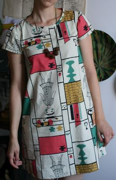smunch: cute shift dress made from the gabby dress pattern More