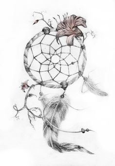 [preview] dreamcatcher tattoo by GenevieveViel.deviantart.com on @deviantART