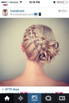 4-strand braided bun
