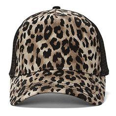 Animal Print Fashion Trucker Cap - Brown Cheetah Print