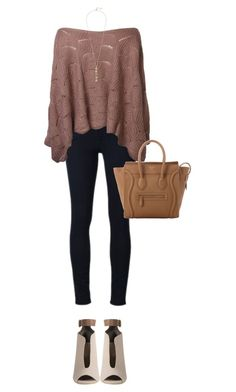 """""""Untitled #21"""" by michelzaray ❤ liked on Polyvore featuring Frame Denim, CÉLINE, Cole Haan, contest, MyStyle, falltrend and fallsweaters"""
