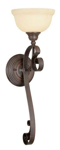 Livex Lighting 6140-58 Manchester Wall Sconce in Imperial Bronze