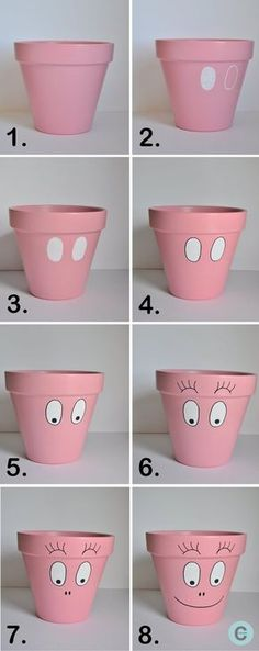 DIY : Barba-pot, les différentes étapes. Un mustbpour Petit Lutin qui est fan des barbapapa !
