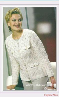 Жакет в стиле Шанель - Вязание - Страна Мам