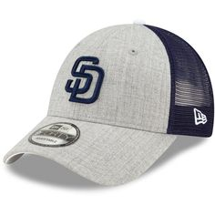 promo code 418f0 9d450 Men s San Diego Padres New Era Heathered Gray Navy Turn Trucker 9FORTY  Adjustable Snapback Hat, Your Price   19.99