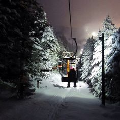 Night skiing at Hirafu is amazing. Visibility is really good if it's not snowing too hard. And really quiet...