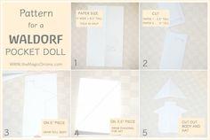 Making A Waldorf Pocket Doll :: FREE Pattern DIY Tutorial :: Discovering Waldorf Education - The Magic Onions