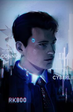 Connor, a CyberLife Android from Detroit: Become Human video game. Detroit Being Human, Detroit Become Human Connor, Dechart Bryan, Game Art, Detroit Art, Quantic Dream, Becoming Human, I Like Dogs, Human Art