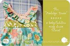 Free tutorial for a lovely wrap dress.  With link to bodice pattern and excellent instructions.