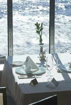 Crystal Cruises. Crystal Symphony. Dining Room. For more information, please contact us at 800-710-1008 or luxurycruises@timeoutformyself.com. Photo courtesy of Crystal Cruises.