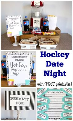 Date Ideas For Guys - Hockey Date Night with FREE Printables