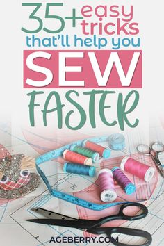 Looking for simple sewing ideas that'll help make sewing easy? These sewing hack. Looking for simple sewing ideas that'll help make sewing easy? These sewing hacks and tips are great for beginners and more seasoned sewing experts. Easy Sewing Projects, Sewing Projects For Beginners, Sewing Hacks, Sewing Tutorials, Sewing Ideas, Sewing Crafts, Craft Projects, Fat Quarter Projects, Sewing Lessons
