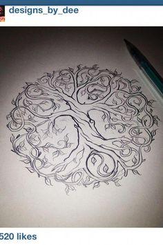 Celtic tree tattoo tatoo ideas for 2019 Simbolos Tattoo, Tattoo Life, Tattoo Drawings, Body Art Tattoos, New Tattoos, Cool Tattoos, Roots Tattoo, Tree Of Life Tattoos, Tattoo Neck