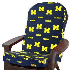 NCAA Michigan Outdoor Adirondack Chair Cushion